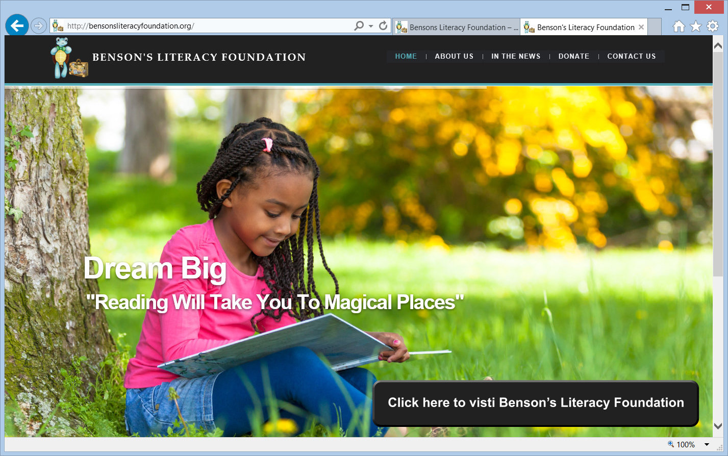 Visit Benson's Literacy Foundation website
